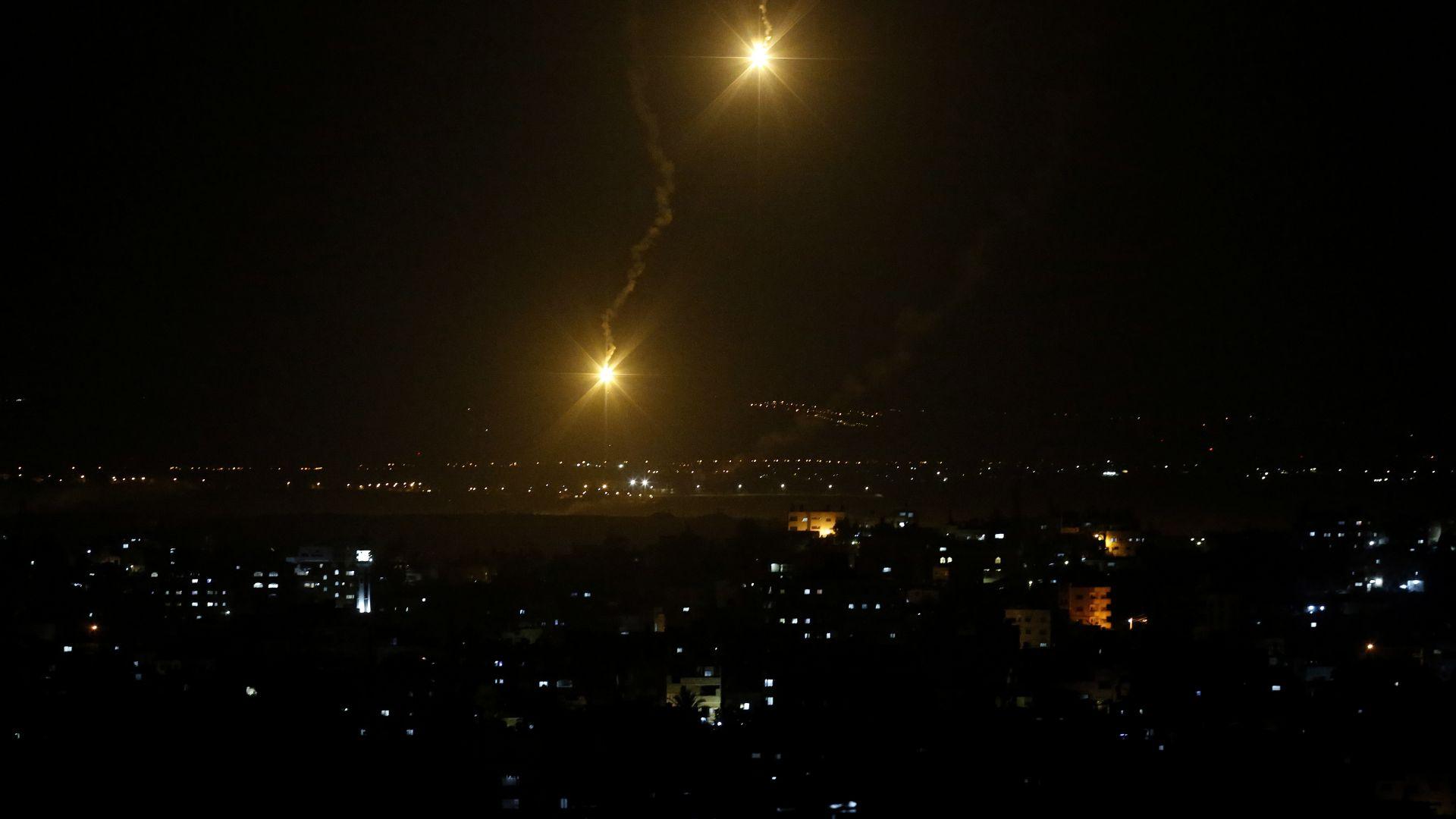 Израел прати изтребители над Газа в отговор на палестинските ракети