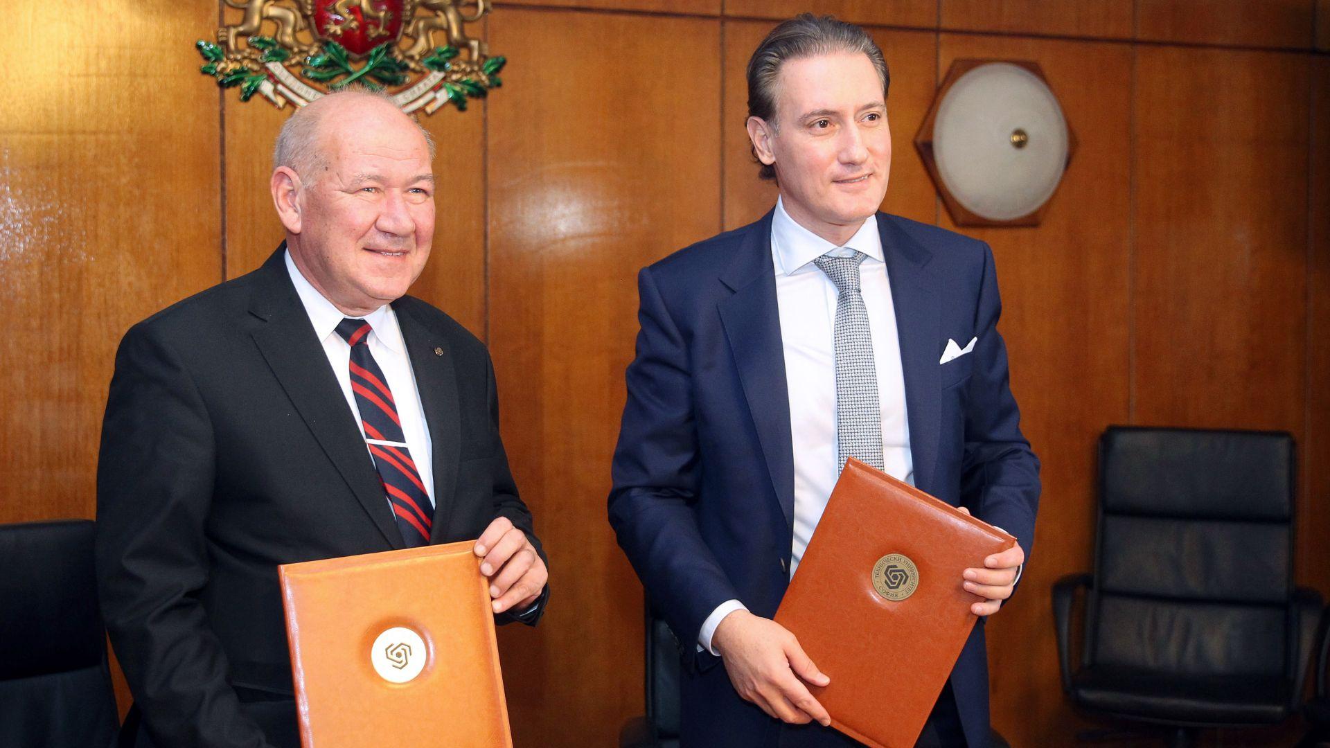 КРИБ подписа споразумение с ТУ София