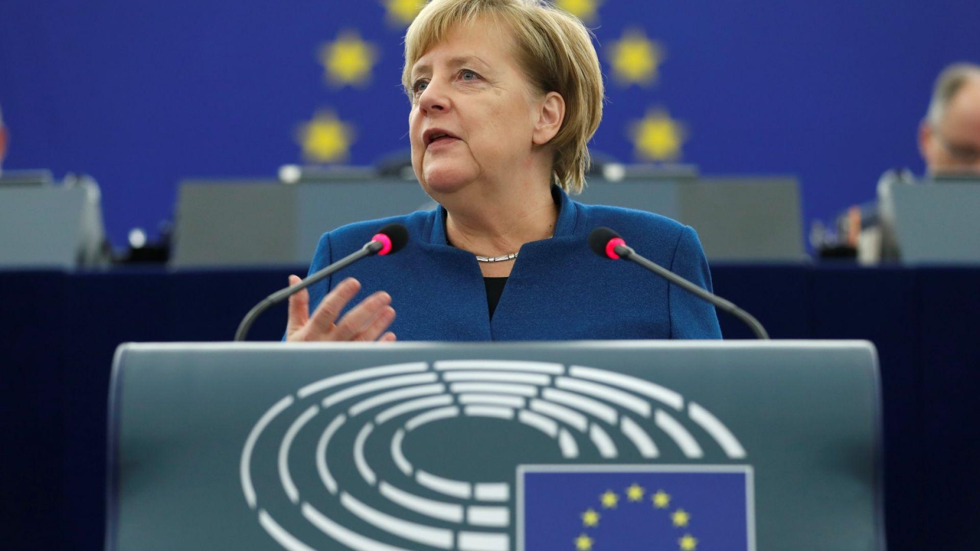 Германският канцлер Ангела Меркел призова за създаване на истинска европейска