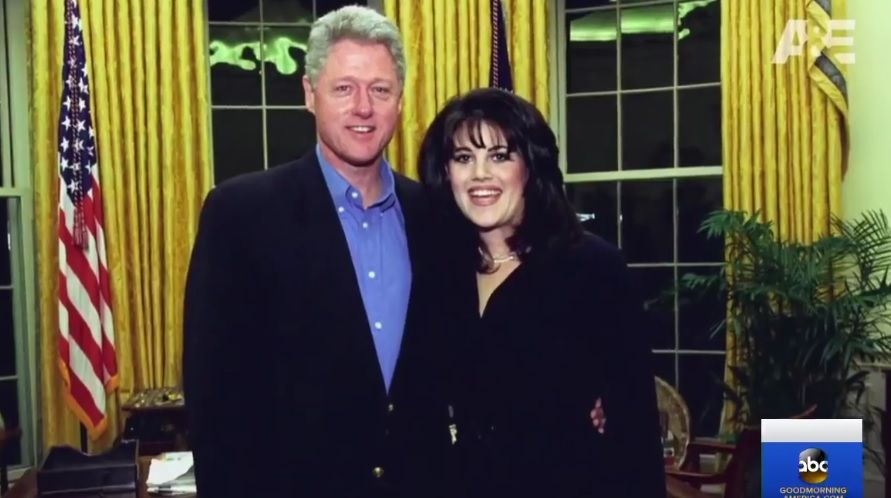 Моника Люински и Бил Клинтън в Белия дом
