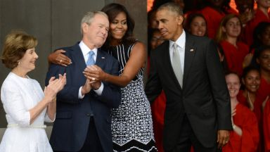 Мишел Обама за приятелството си с Джордж Буш: Той е красив и забавен