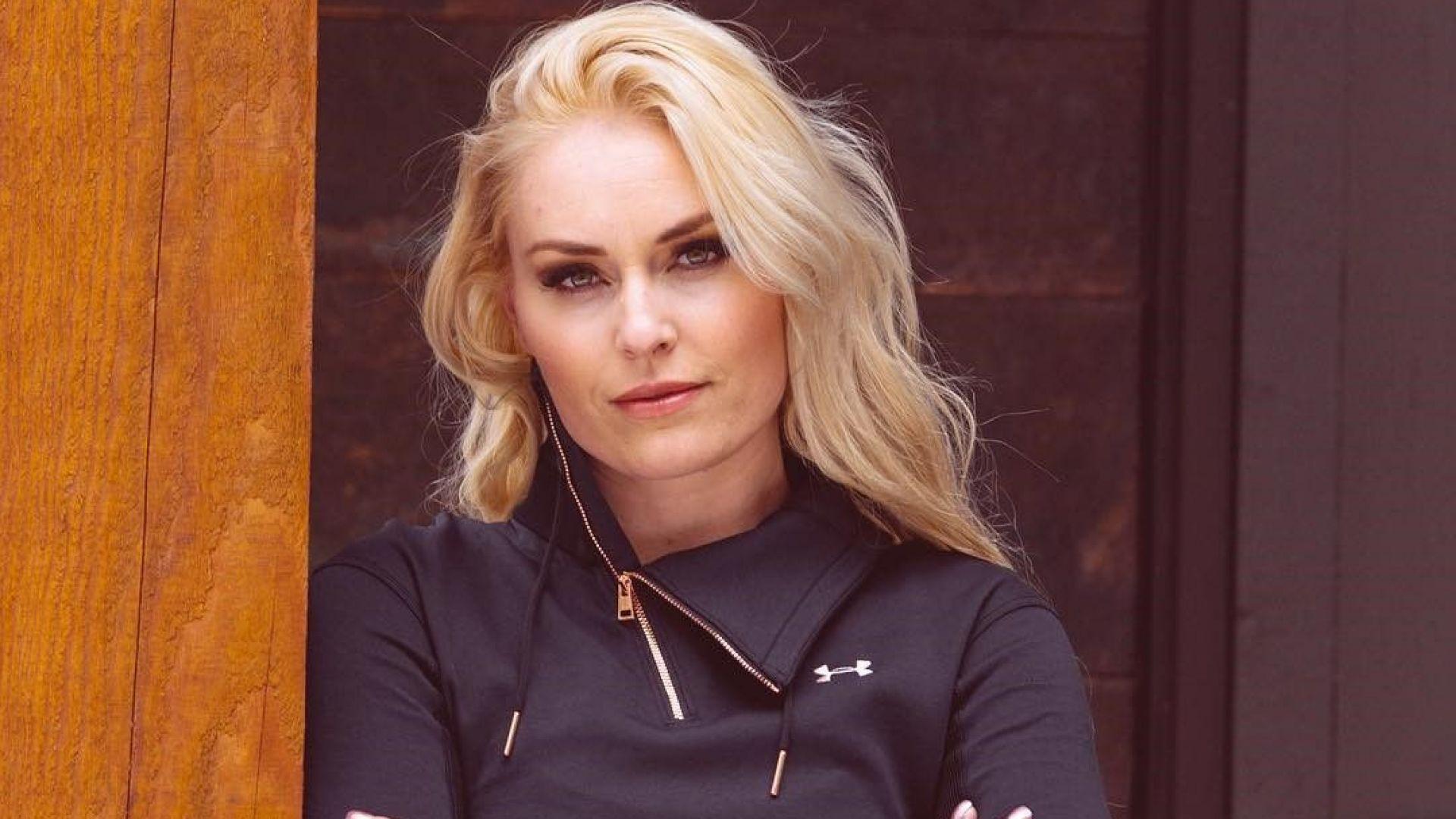 Линдзи Вон с модна колекция, кръсти пуловер на Банско