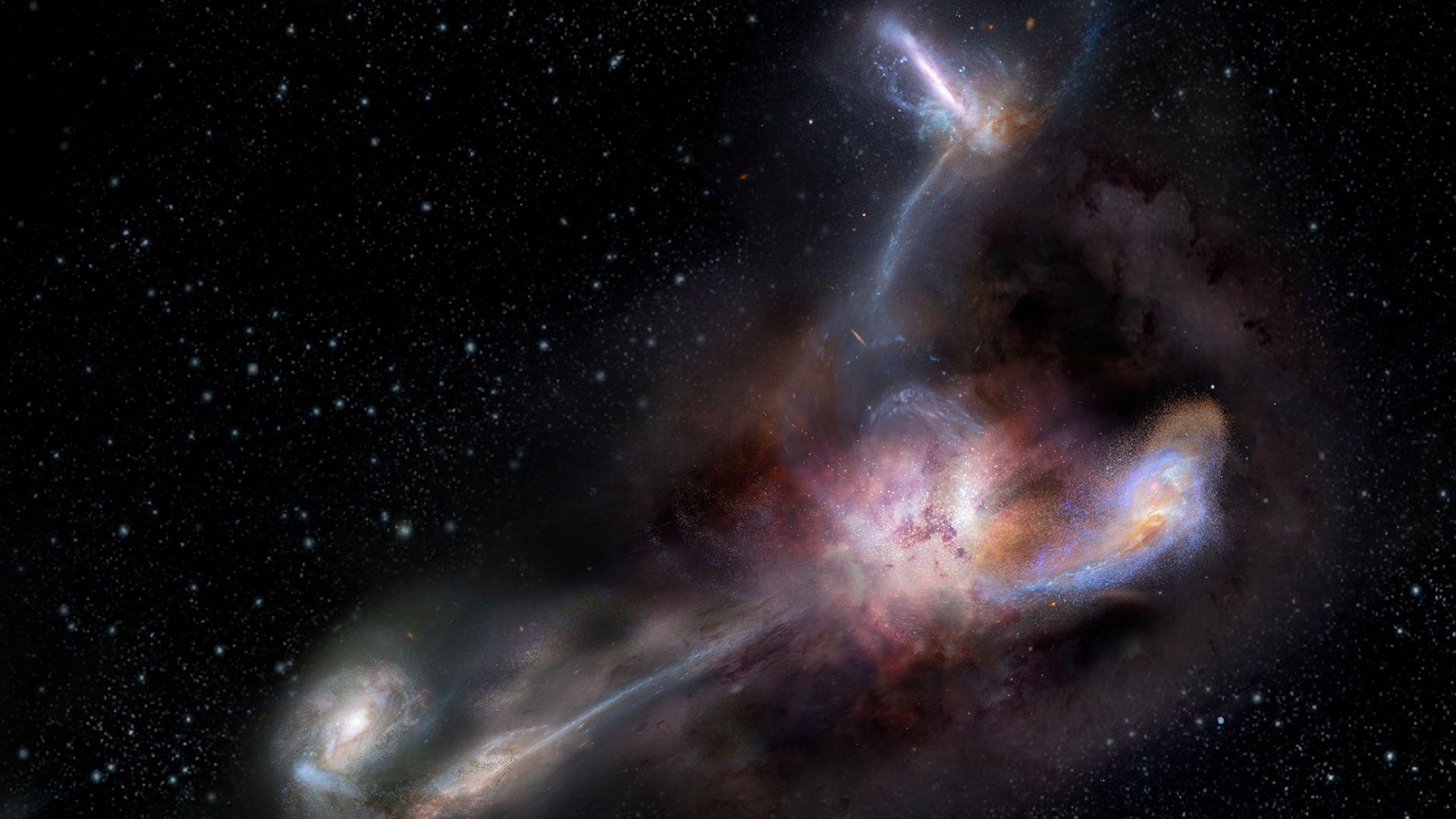 """НАСА: Най-светещата галактика е """"канибал"""""""