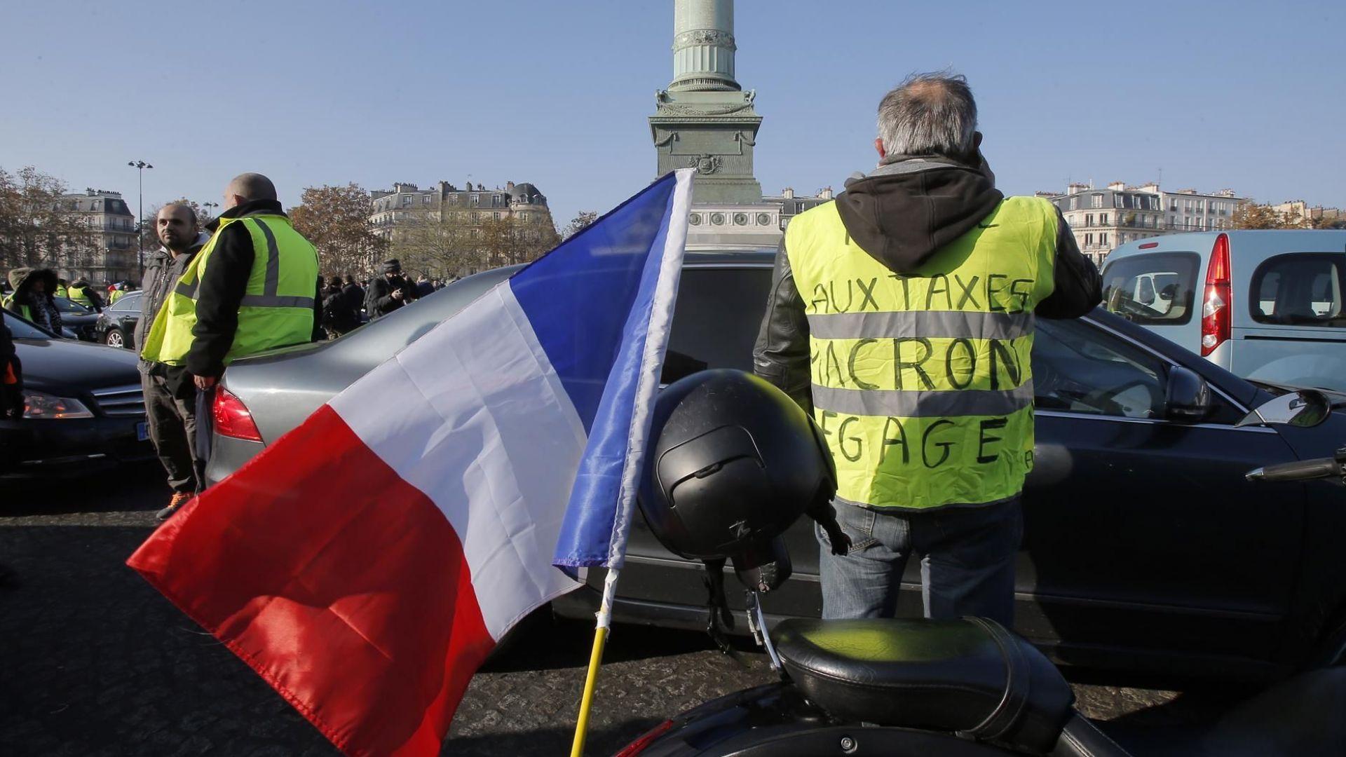 124 хиляди французи на протест срещу скъпите горива (видео)