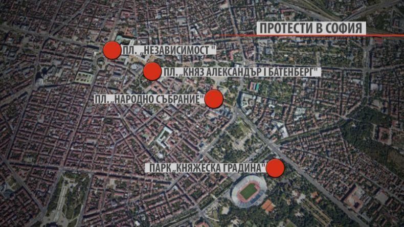 Къде са протестите в София
