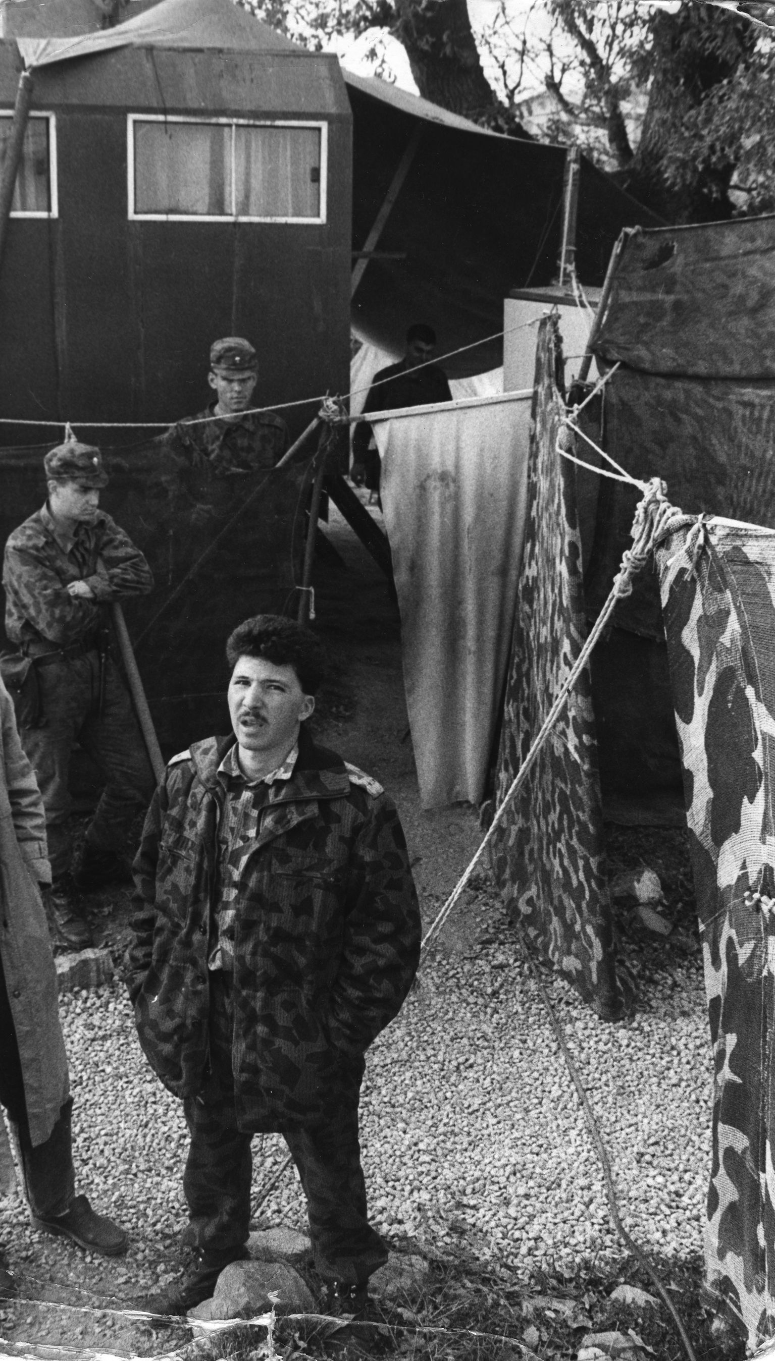 Палатковият лагер на военните, които охраняват обекта Царичинска дупка