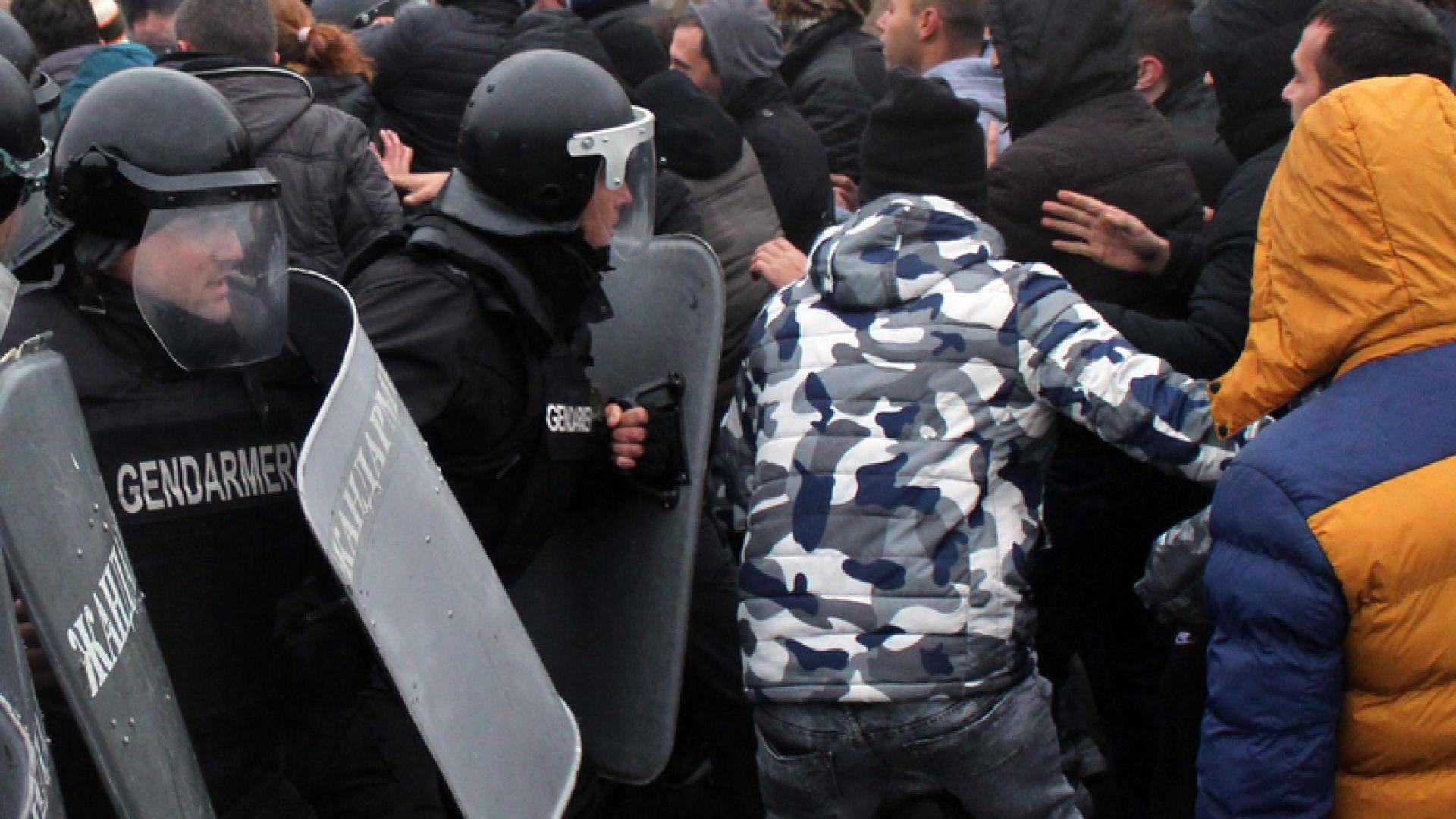 Лидерът на протестите в Благоевград - Александър Стамболийски, който участва