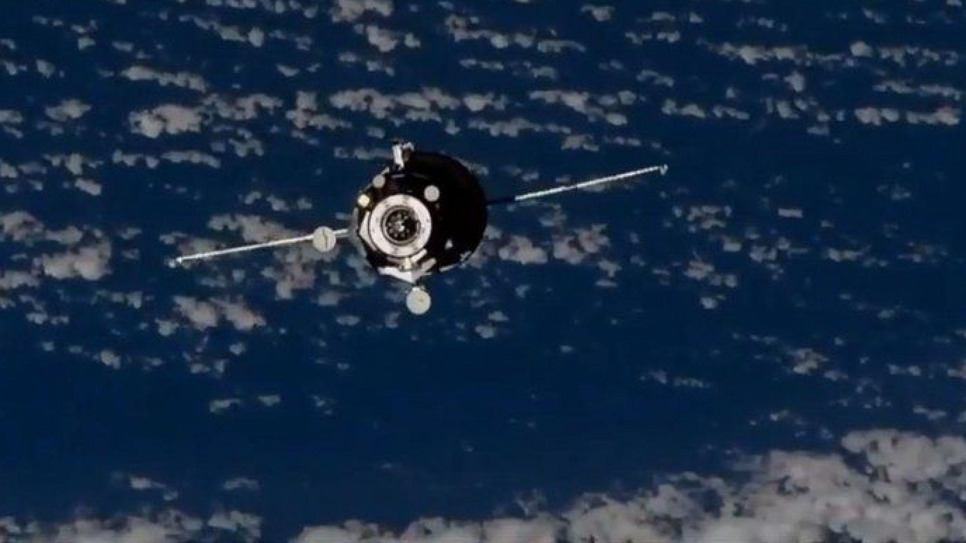 """Прогрес МС-10"" се скачи успешно с МКС (видео)"
