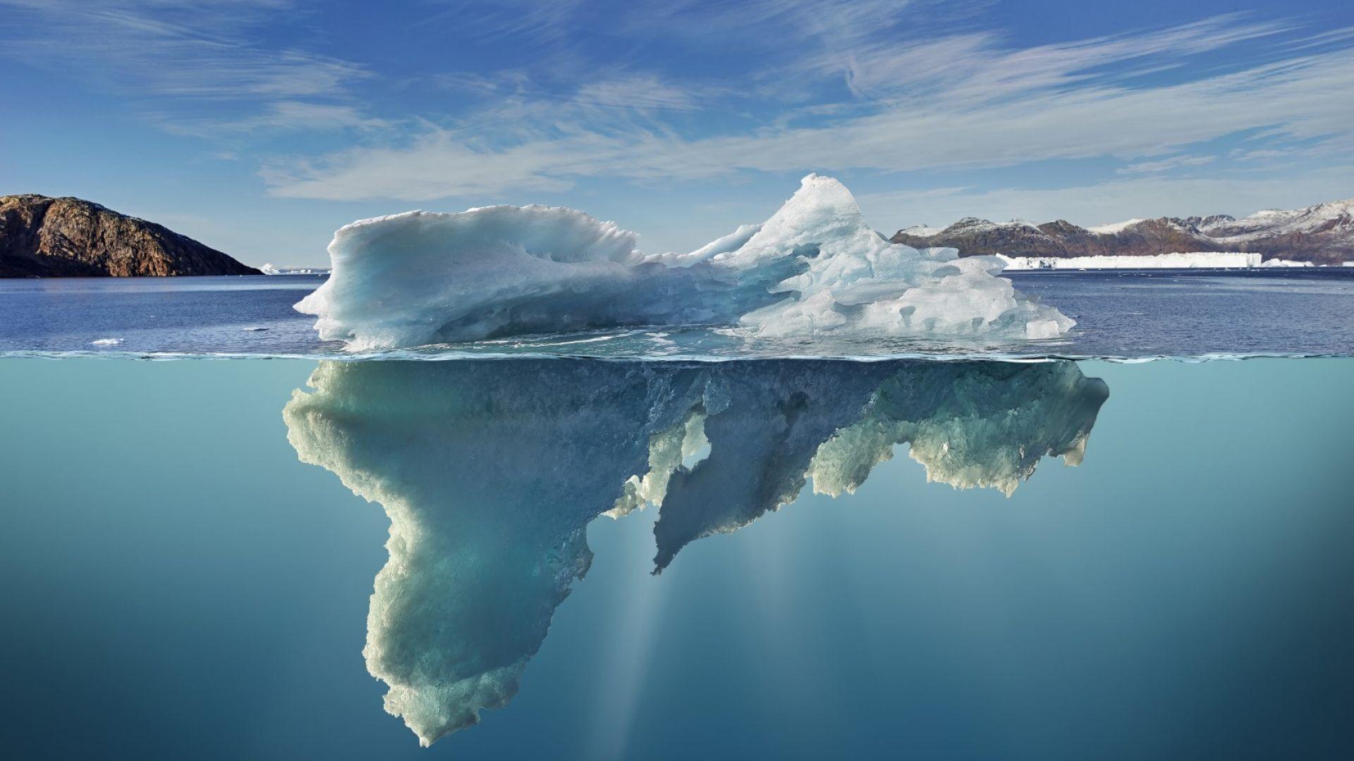 Колко айсберги губи Антарктика за 40 години (видео)