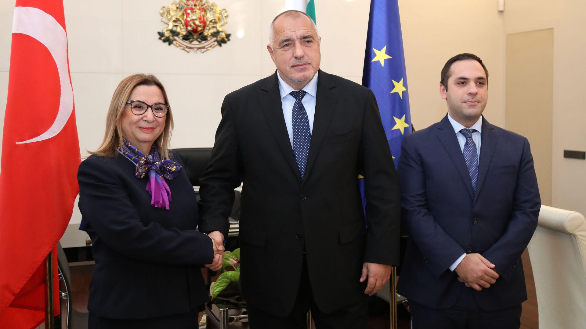 Премиерът Бойко Борисов и министърът на търговията на Турция Рухсар