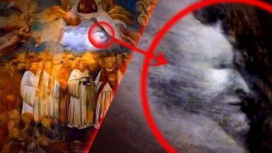 Старинна италианска фреска със скрит образ на Сатаната