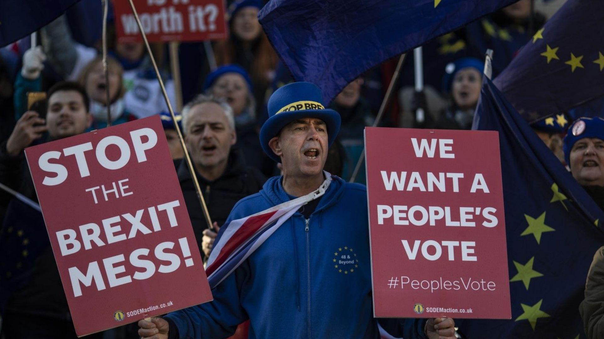 """""""Гардиън"""": Втори референдум за Брекзит става все по–реален"""
