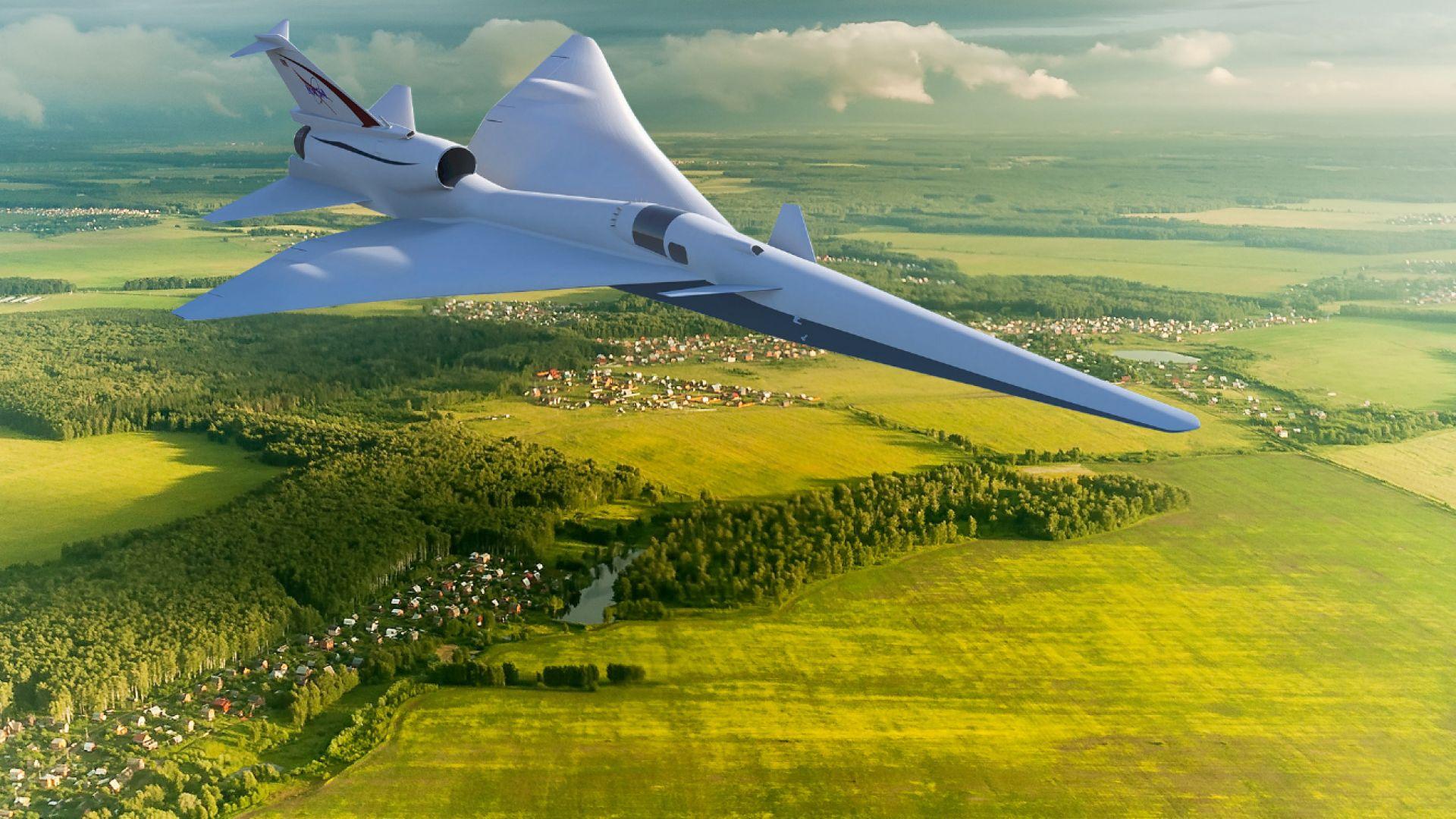 НАСА заменя прозореца на свръхзвуков самолет с екран