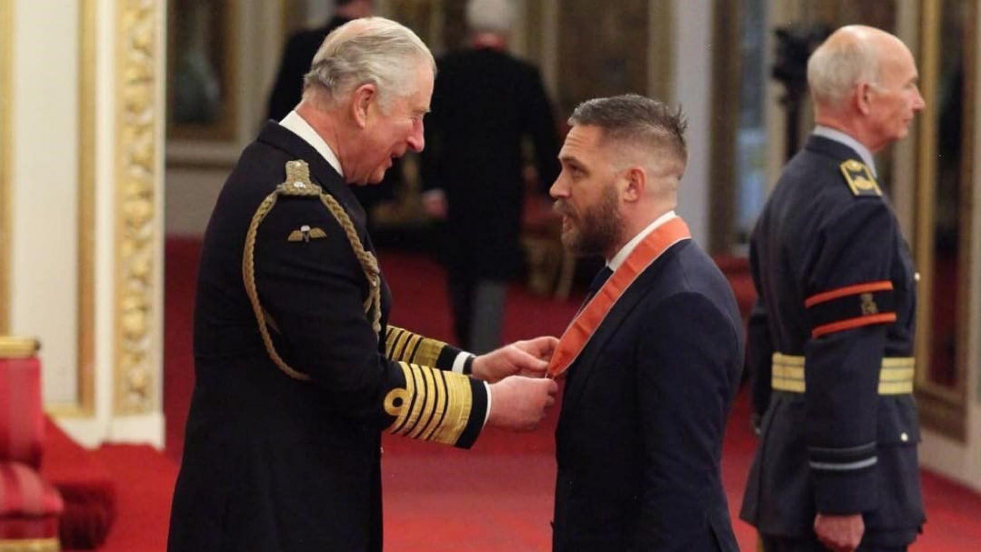 Том Харди получи Ордена на Британската империя
