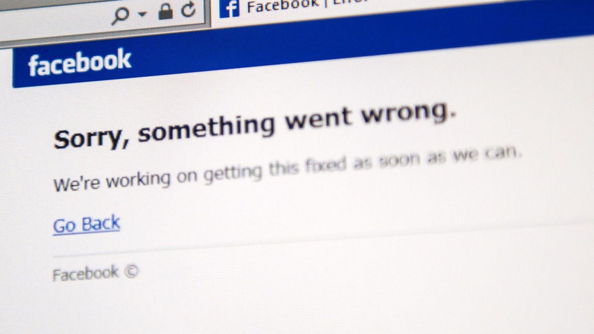 Facebook претърпя мащабен срив