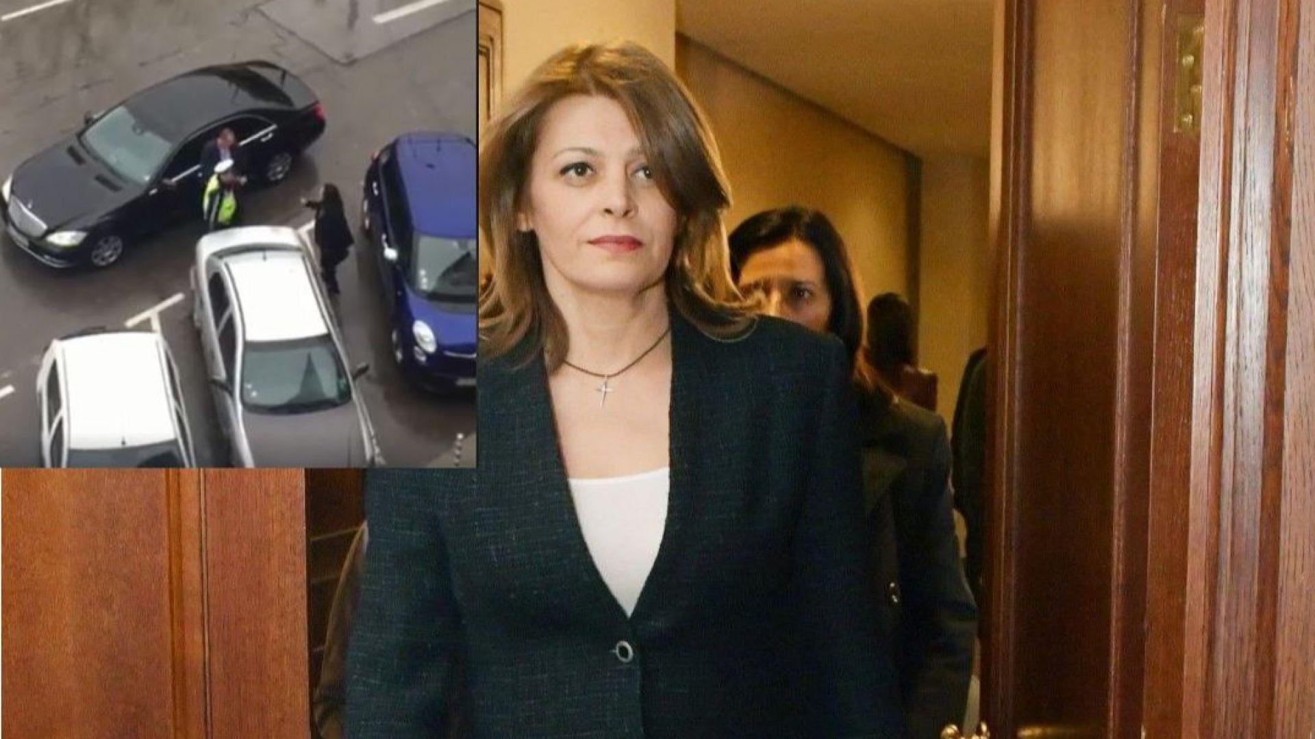 Шофьорът на Десислава Радева от НСО е глобен след скандала пред ателие за рокли