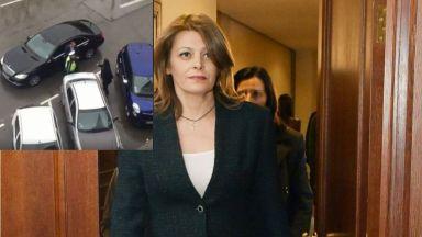 КАТ и НСО спорят край мерцедеса на Десислава Радева (видео)