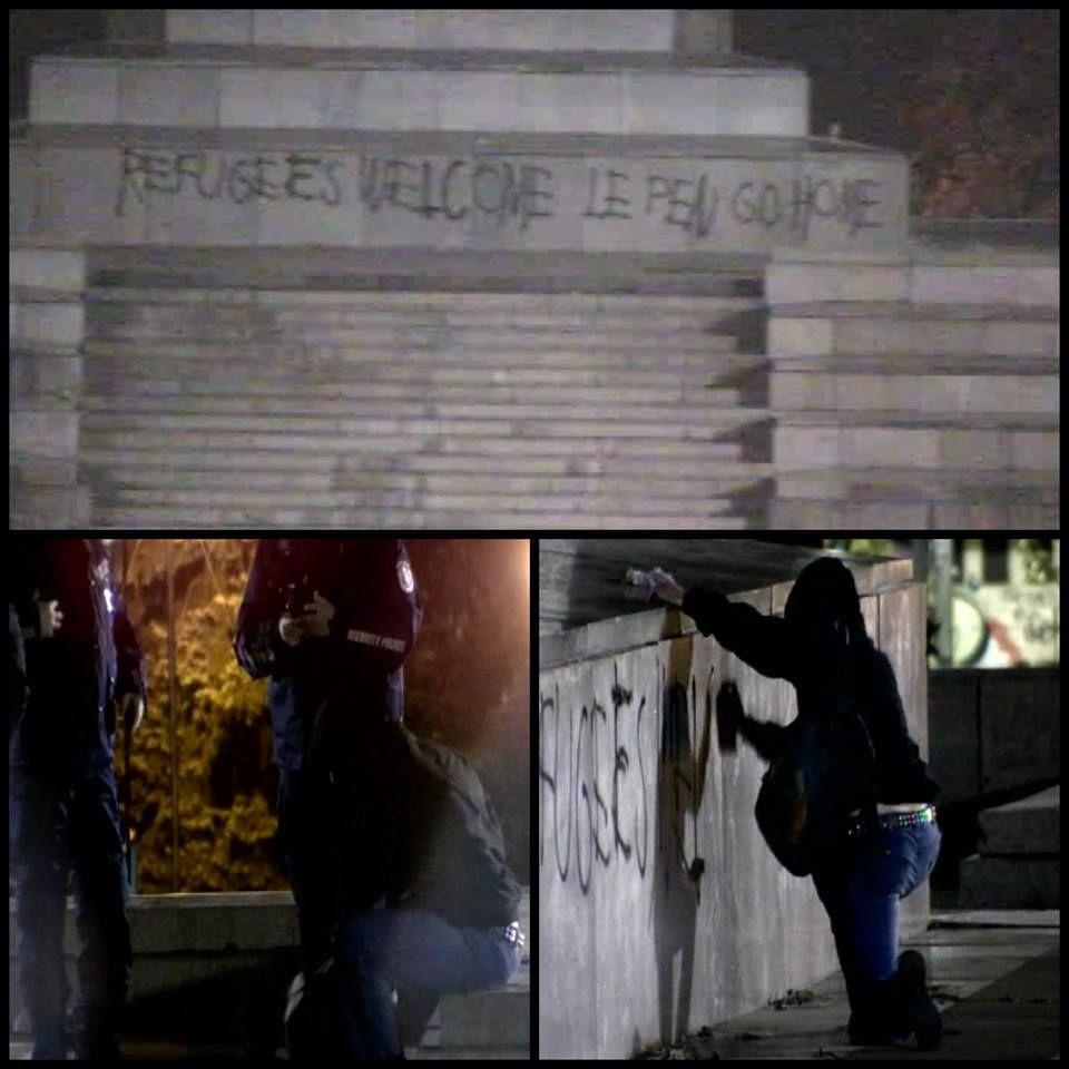 На 15 ноември вечерта Траян Димитров пише своето послание върху паметника