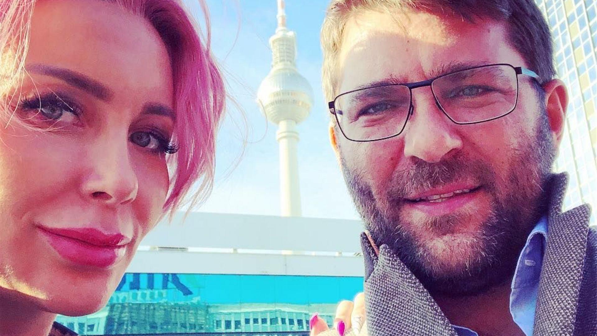 Бременната Антония Петрова на разходка в Берлин
