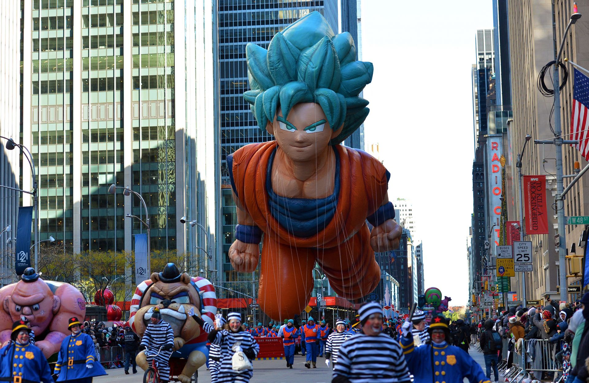 Гоку (Goku) под формата на балон в Ню Йорк