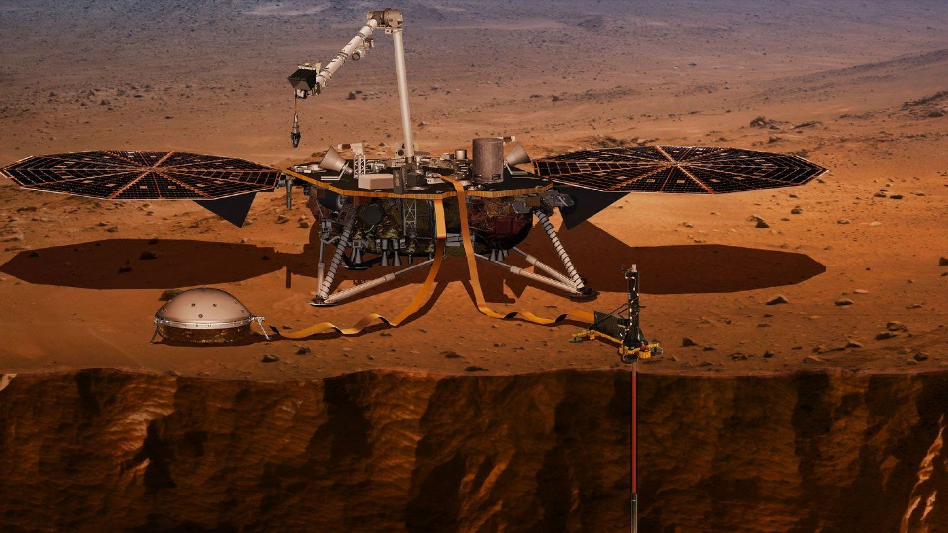 "Сондата ""ИнСайт"" на НАСА кацна успешно на Марс (видео)"
