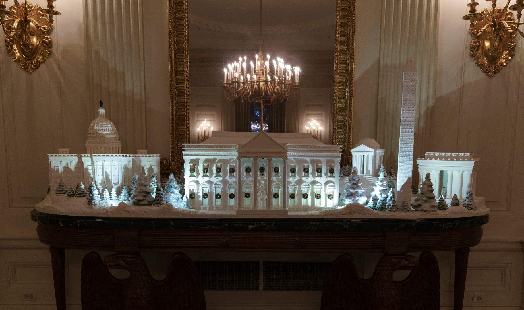Белият дом, изработен от джинджифилово тесто