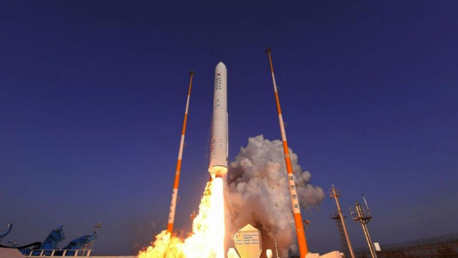 Южна Корея успешно тества първия си ракетен двигател