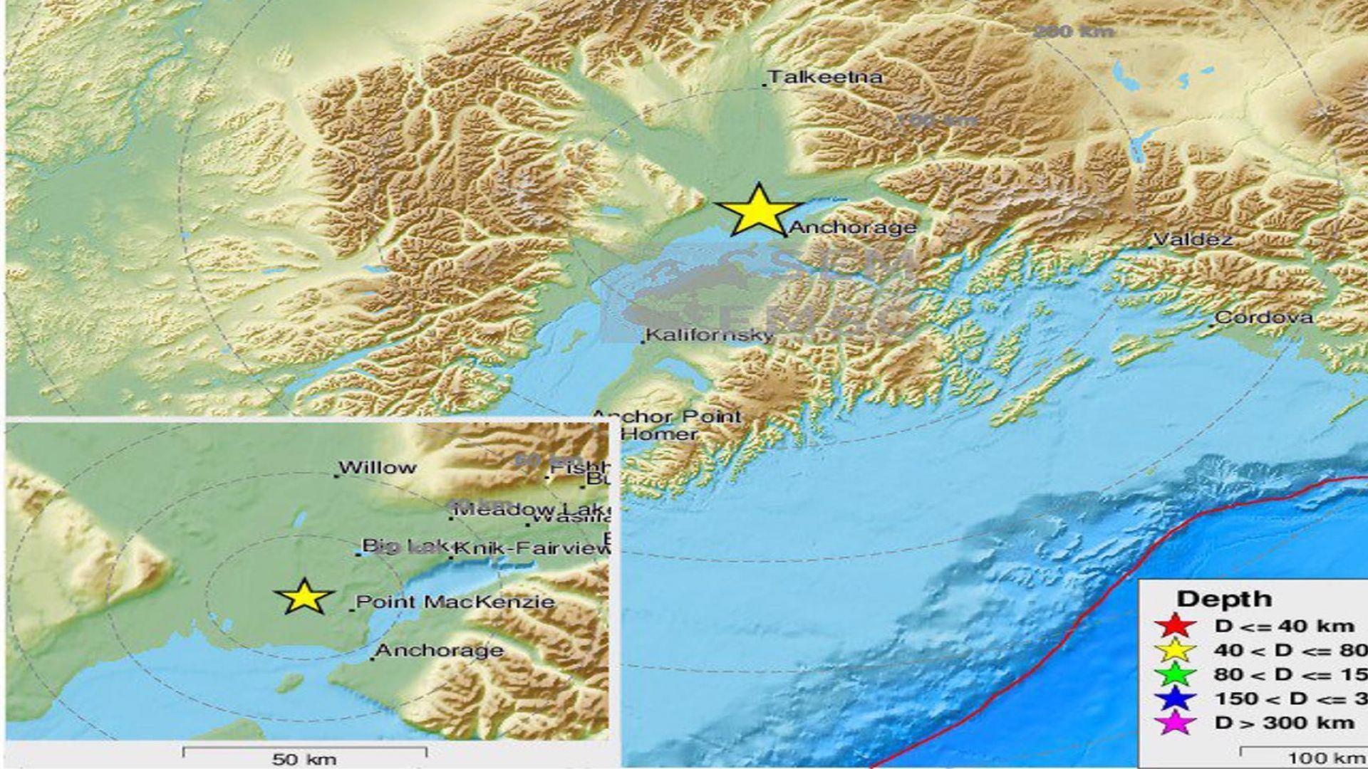 Трус с магнитуд 7.0  удари Аляска, очаква се цунами (видео)