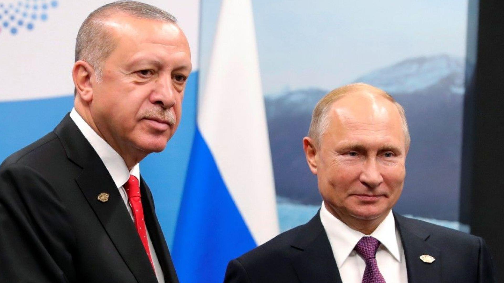 Путин и Ердоган съгласуваха стъпките за демилитаризираната зона в Идлиб
