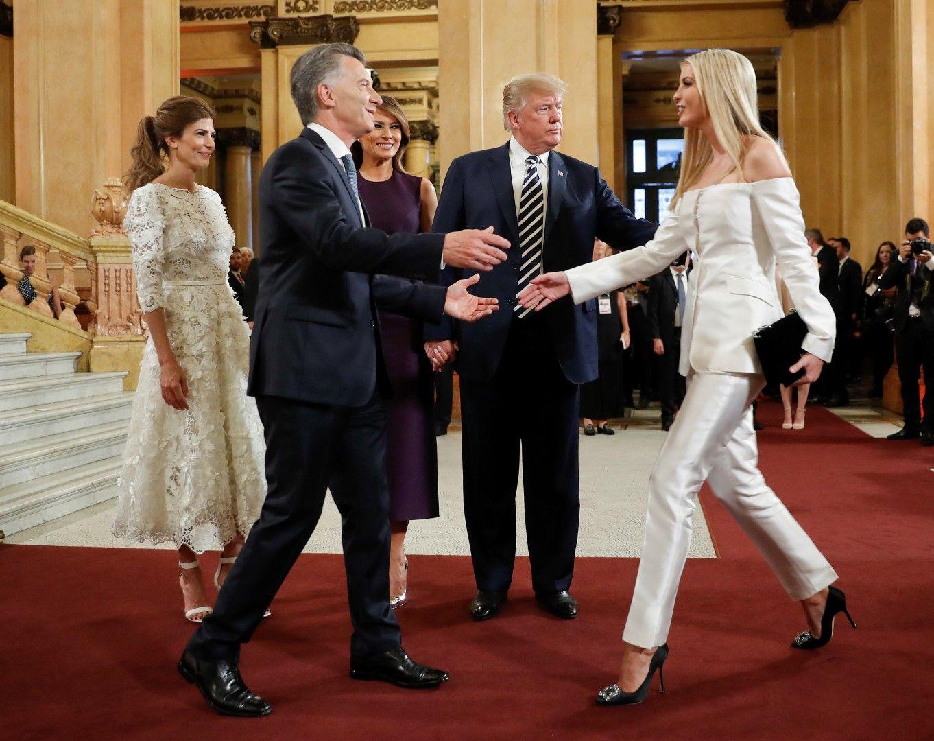 Мелания Тръмп поздравява аржентинския президент Маурисио Макри