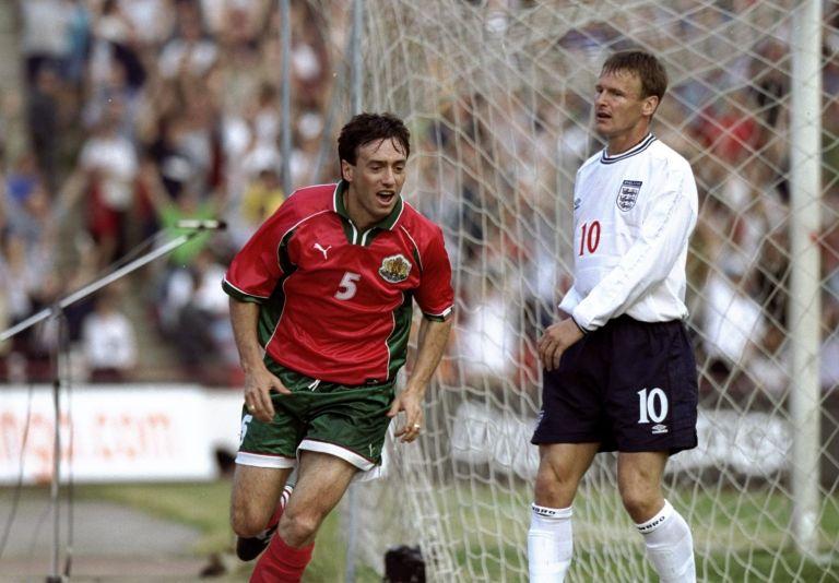 """Паметен момент - Георги Марков изравнява на """"Българска армия"""", 1:1, не допуснахме загуба, а това бе първият ни и единствен гол срещу Англия в официален мач!"""