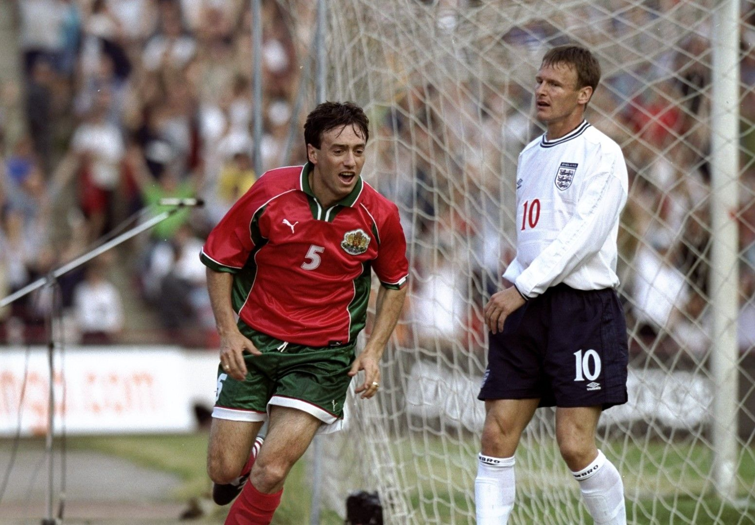 1999 г., 1:1 в София - Георги Марков бележи единствения гол, който сме вкарвали на Англия в официален мач