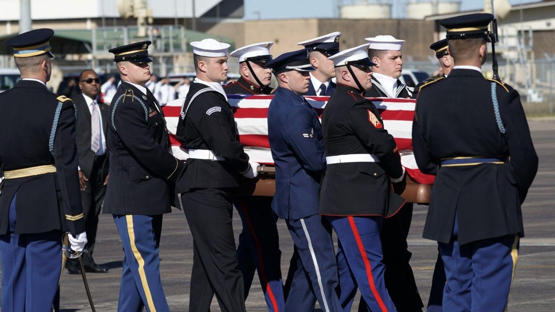 Последното пътуване на Джордж Х. У. Буш до Вашингтон