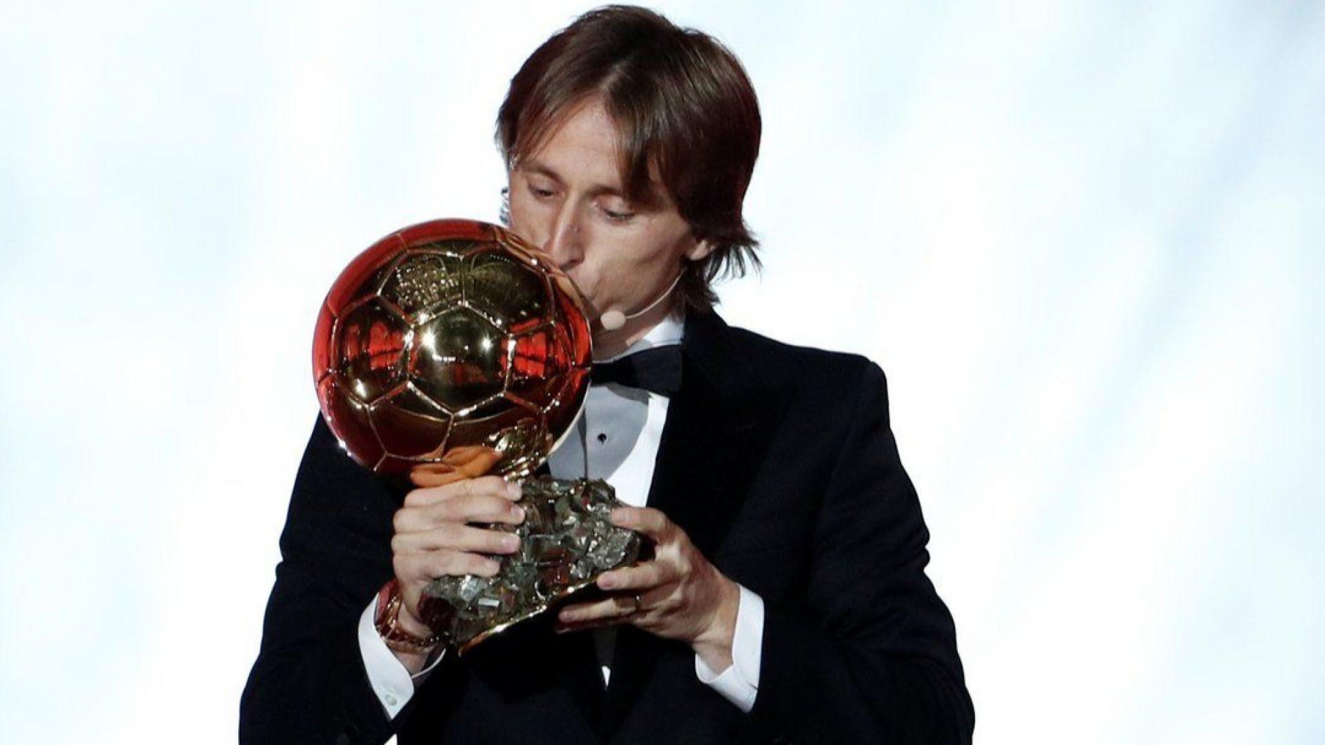 Лука Модрич е новият футболен крал (класация и галерия)