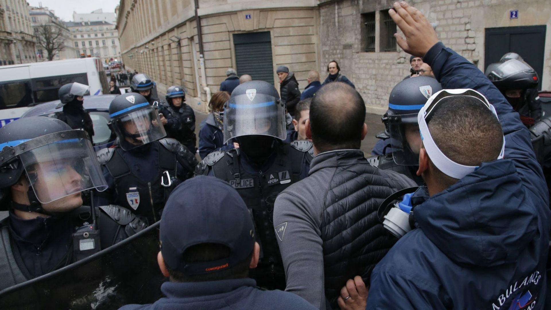 """Първи присъди срещу """"жълти жилетки"""" във Франция"""