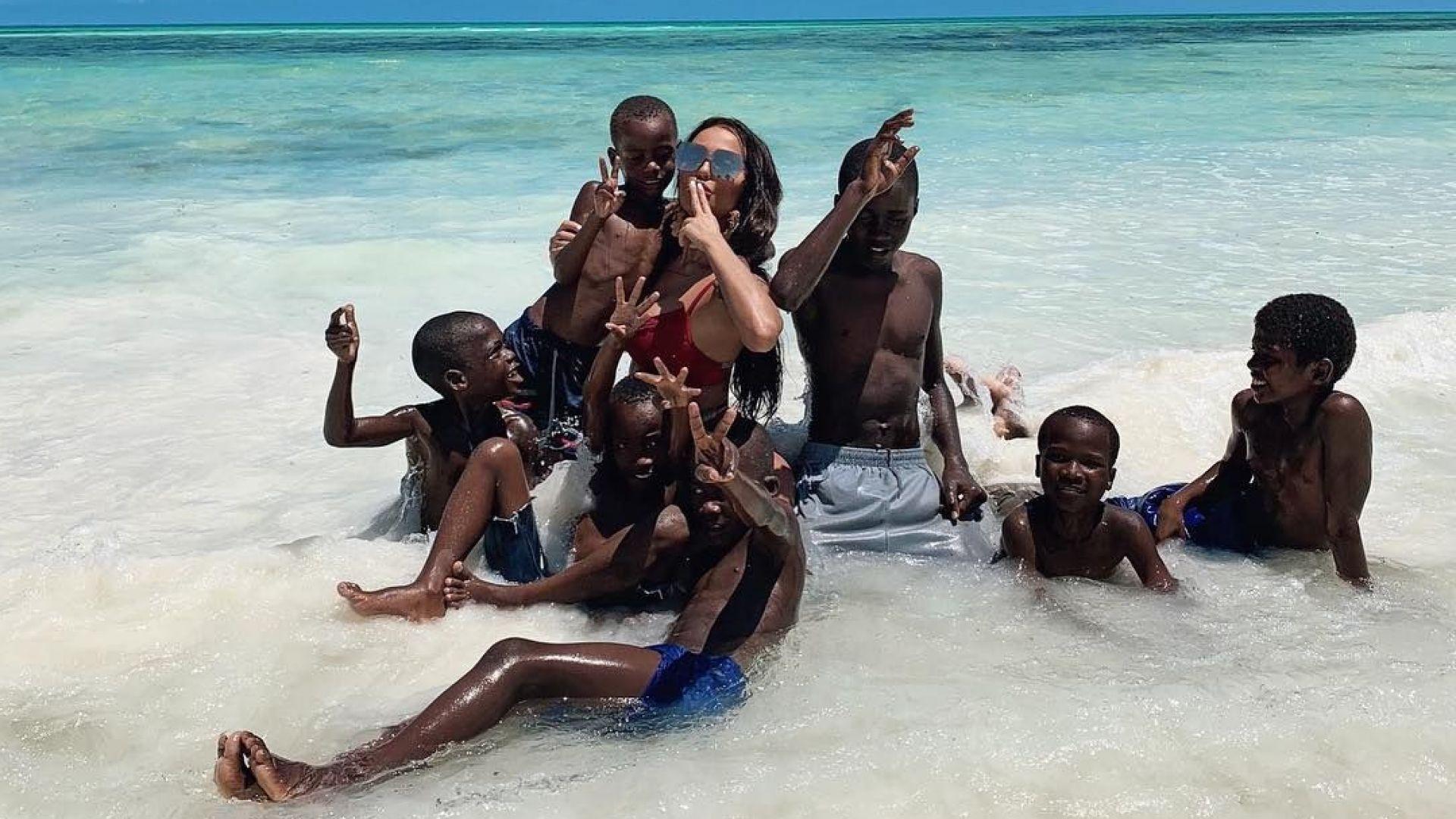 Николета на почивка в Занзибар за рождения си ден