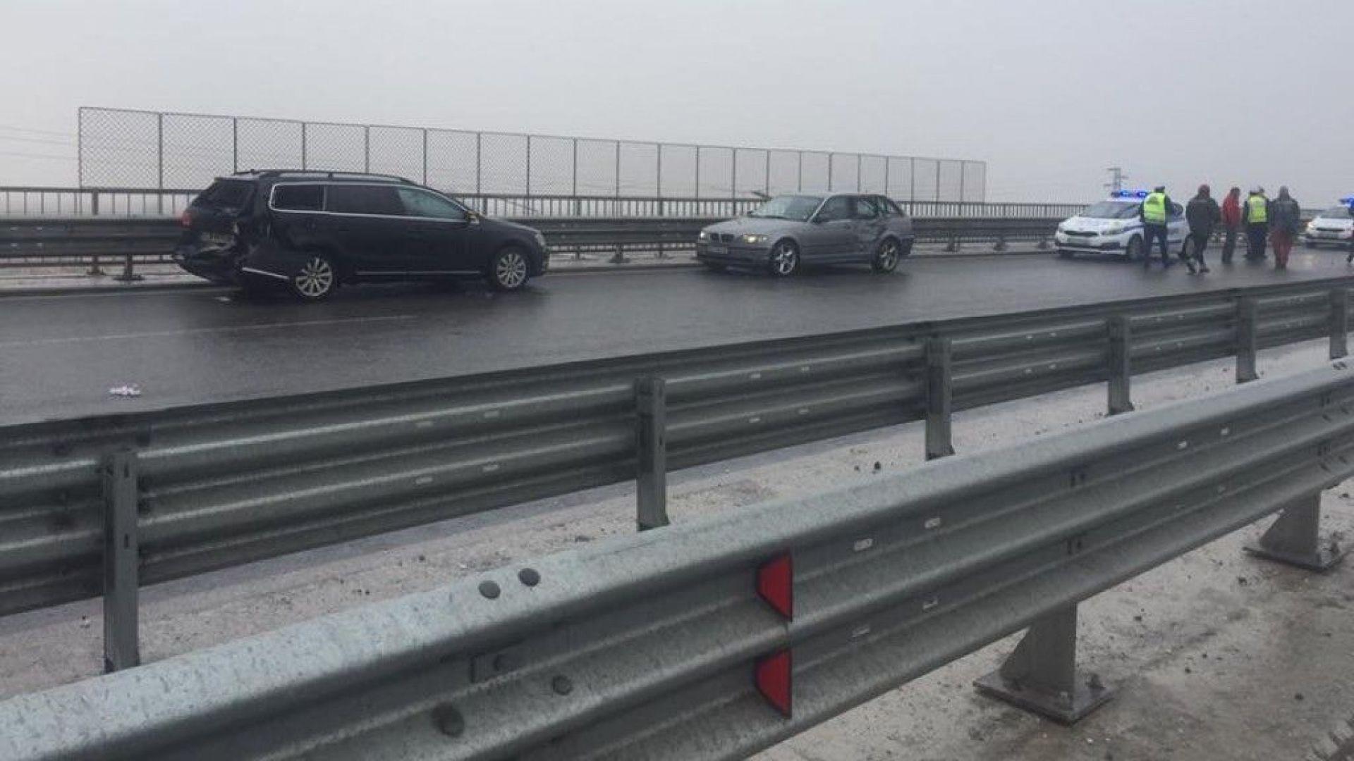 Верижна катастрофа с 21 коли на Околовръстния път на София
