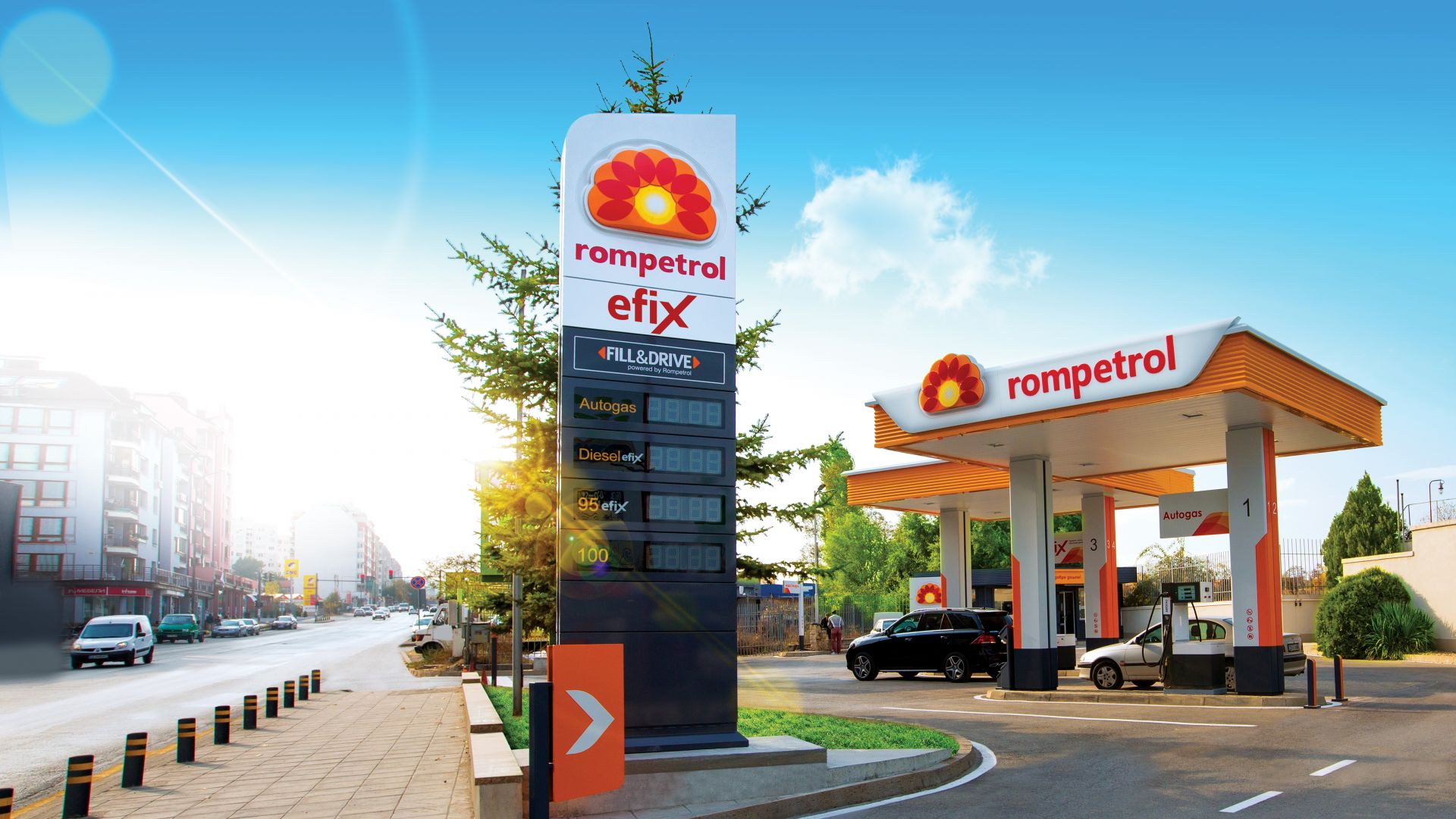 Ромпетрол открива 5 нови бензиностанции