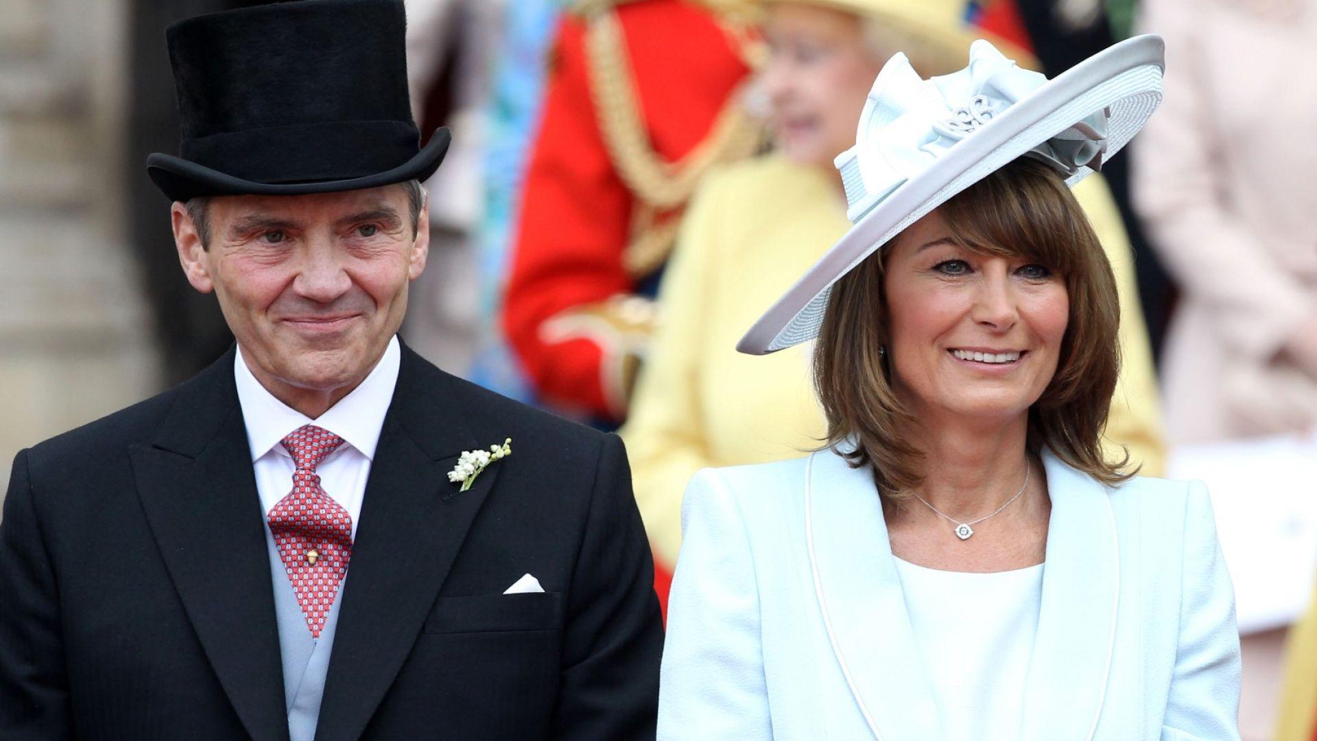 Керъл и Майкъл Мидълтън на сватбата на Кейт и Уилям