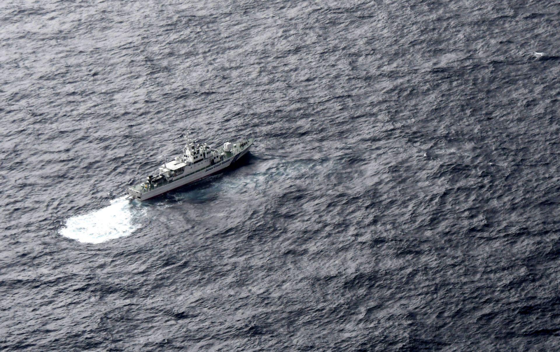 Корабът на бреговата охрана на Япония участва в издирвателната операция след катастрофата