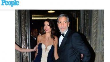 Амал Клуни с ефирна рокля на събитие на ООН