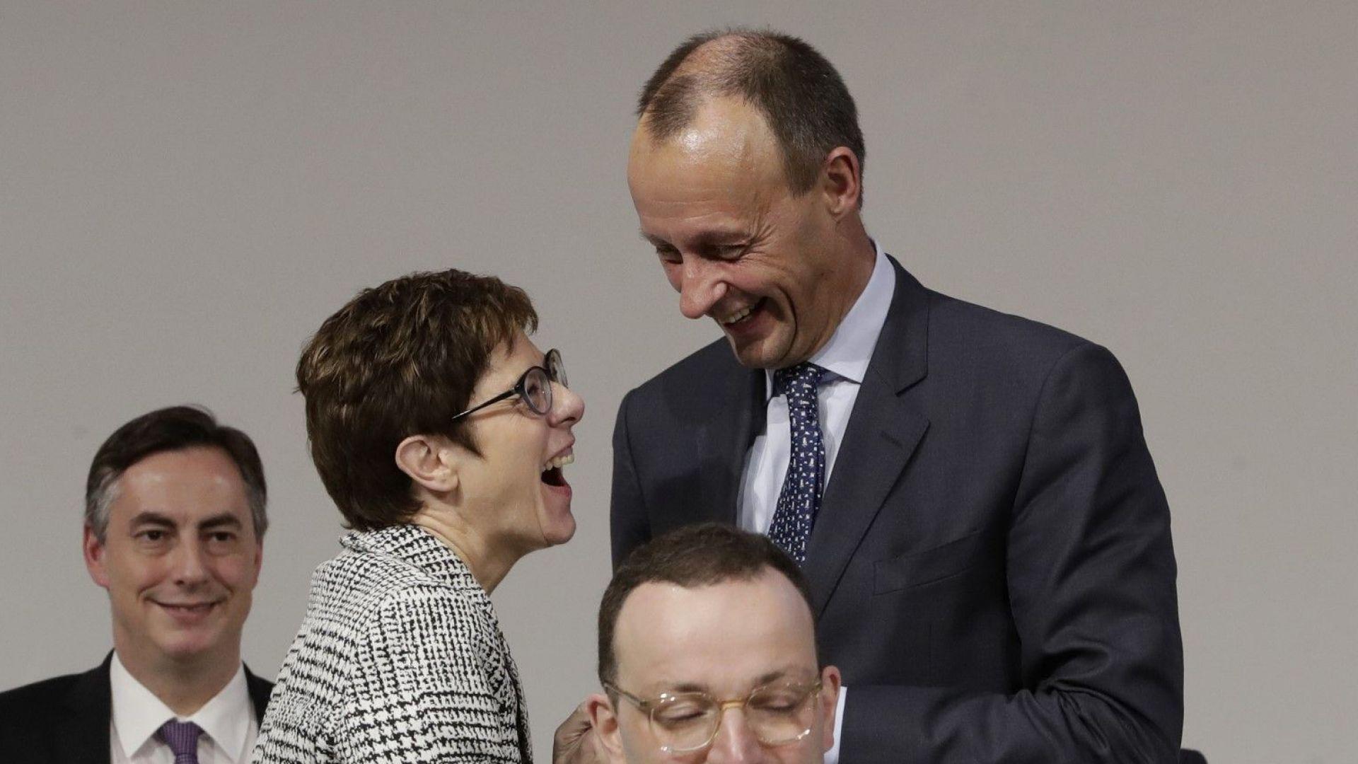 След първото гласуване на конгреса на ХДС в Германия, начело