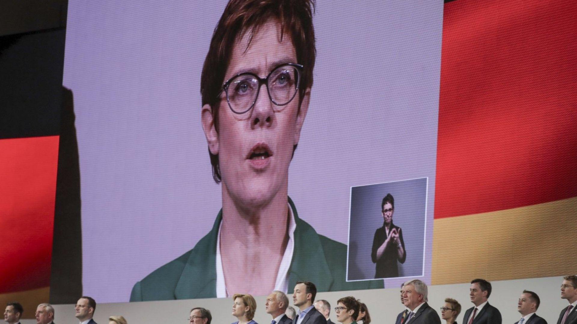 Германският министър на отбраната и лидер на Християндемократическия съюз Анегрет