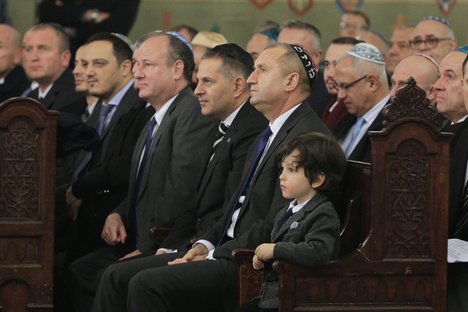 Българската еврейска общност винаги е давала на обществото ни светли умове, заяви президентът