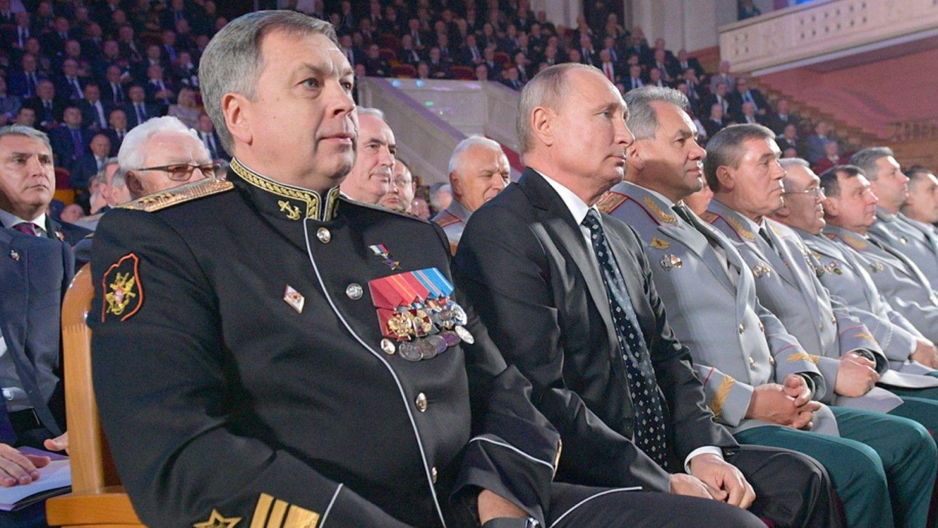Вицеадмирал Игор Костюков е назначен за началник на Главно разузнавателно