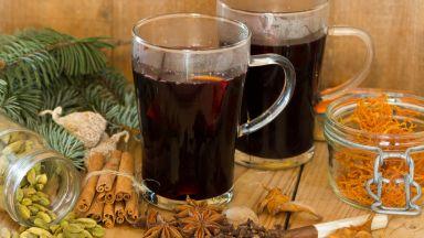 Греяно вино с боровинков сироп
