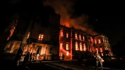 Спасени са над 1500 експоната след пожара на Бразилския национален музей