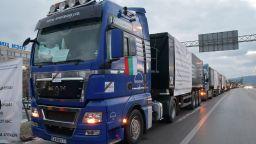 """Строителите разположиха 1000 машини на """"Цариградско шосе"""" (снимки)"""