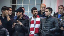 Джокович се завърна в Белград, за да пее за любимия тим