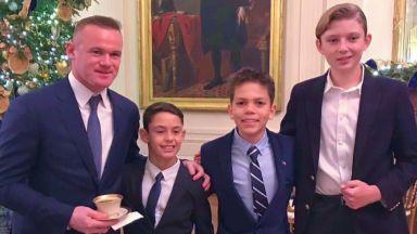 Уейн Рууни заведе децата си на парти в Белия дом по покана на Барън Тръмп